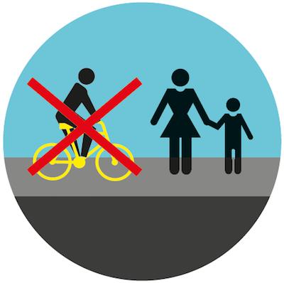 Chodniki służą do chodzenia, nie do jeżdżenia.