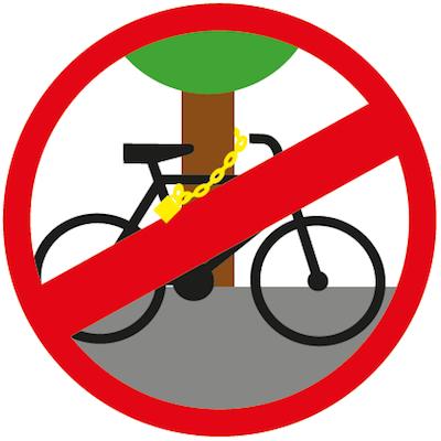 Nie przypinaj roweru do drzewa!