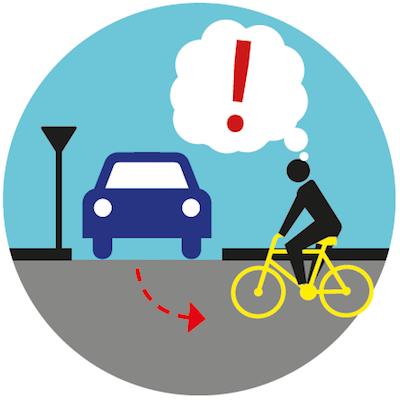 Stosuj zasadę ograniczonego zaufania. Pokonując skrzyżowania postaraj się o kontakt wzrokowy z kierującymi pojazdami.