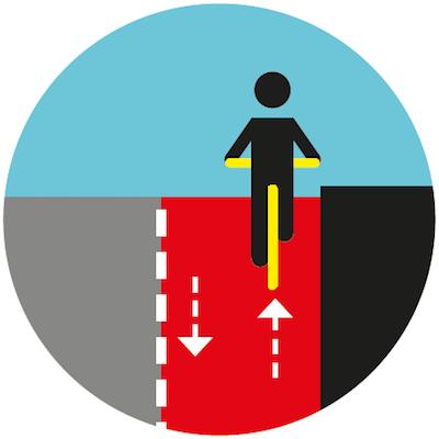 Zawsze jedź po prawej stronie, również na drogach dla rowerów.